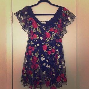 Lovers + Friends Bodysuit Two-fer dress